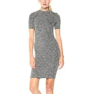 French Connection Space Dye Grey Bodycon Dress
